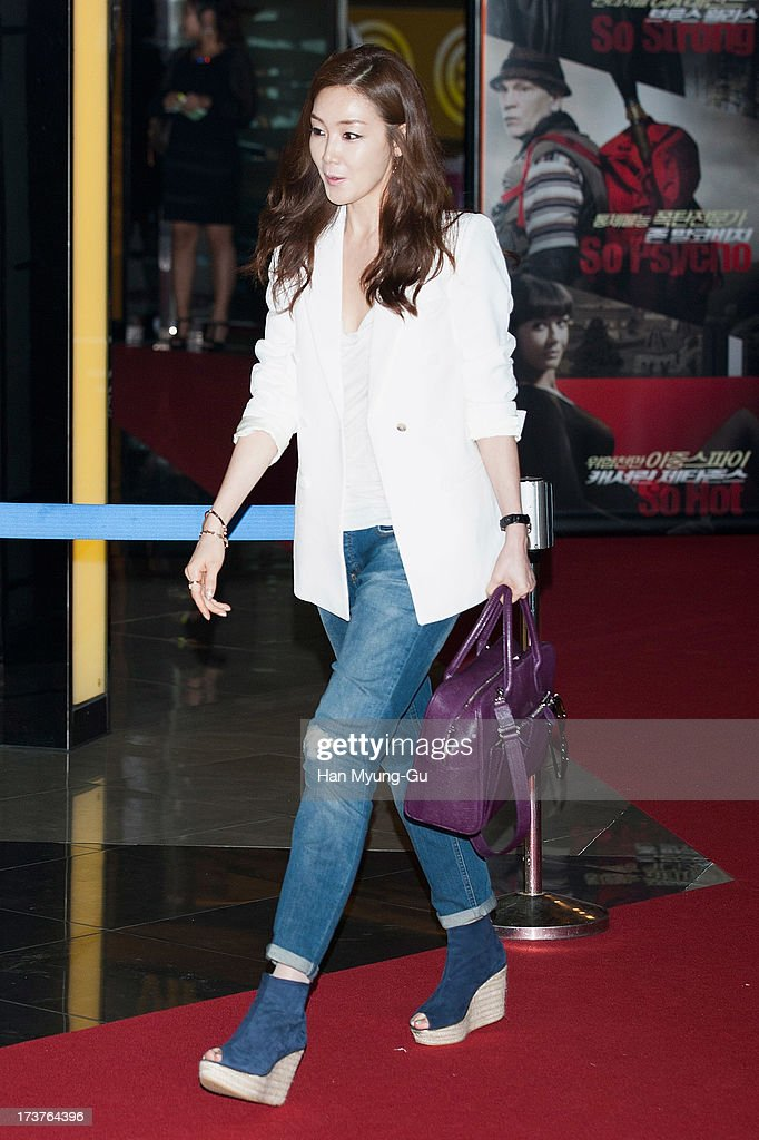 South Korean actress Choi Ji-Woo attends during the 'Red 2' VIP Screening at CGV on July 17, 2013 in Seoul, South Korea. The film will open on July 18, in South Korea.
