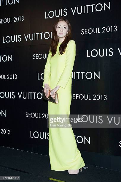 South Korean actress Choi JiWoo attends the 'Louis Vuitton' Hyundai Department Store Global Store Grand Opening Party at the Horim Art Center on July...