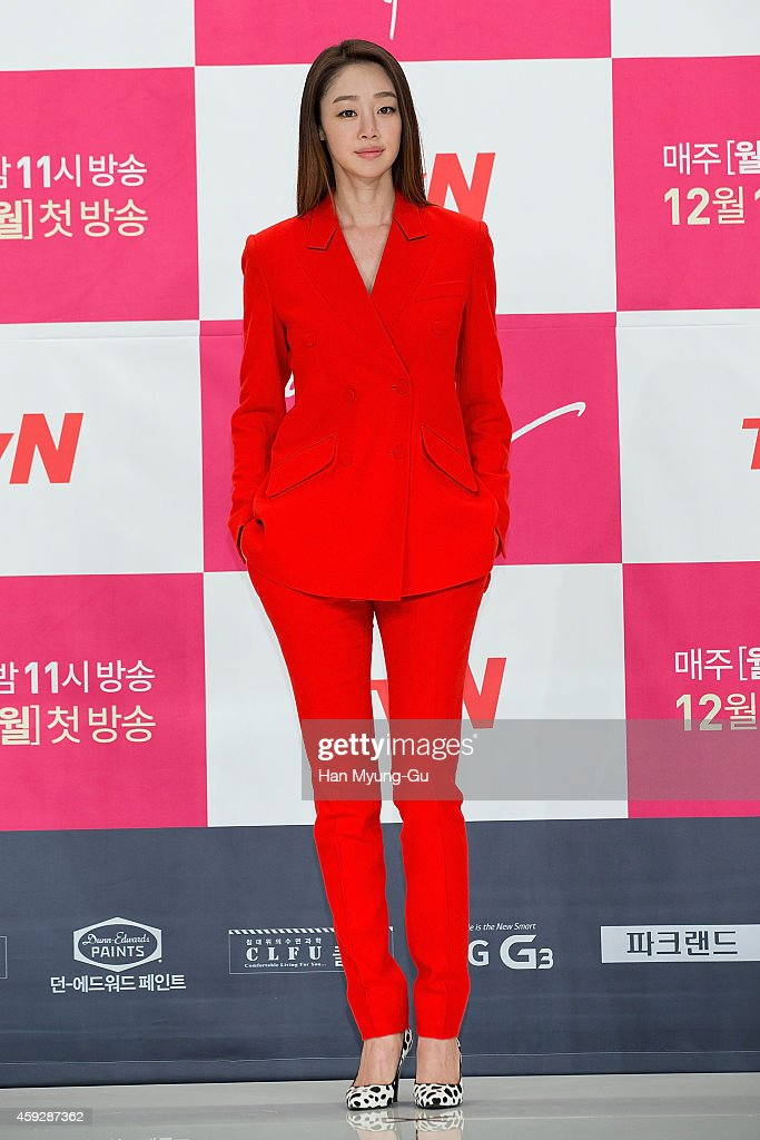 South Korean actress Choi YeoJin attends tvN Drama 'Righteous Love' at Times Square on November 19 2014 in Seoul South Korea The drama will open on...