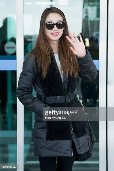South Korean actress Choi YeoJin is seen on departure at Incheon International Airport on December 2 2014 in Incheon South Korea