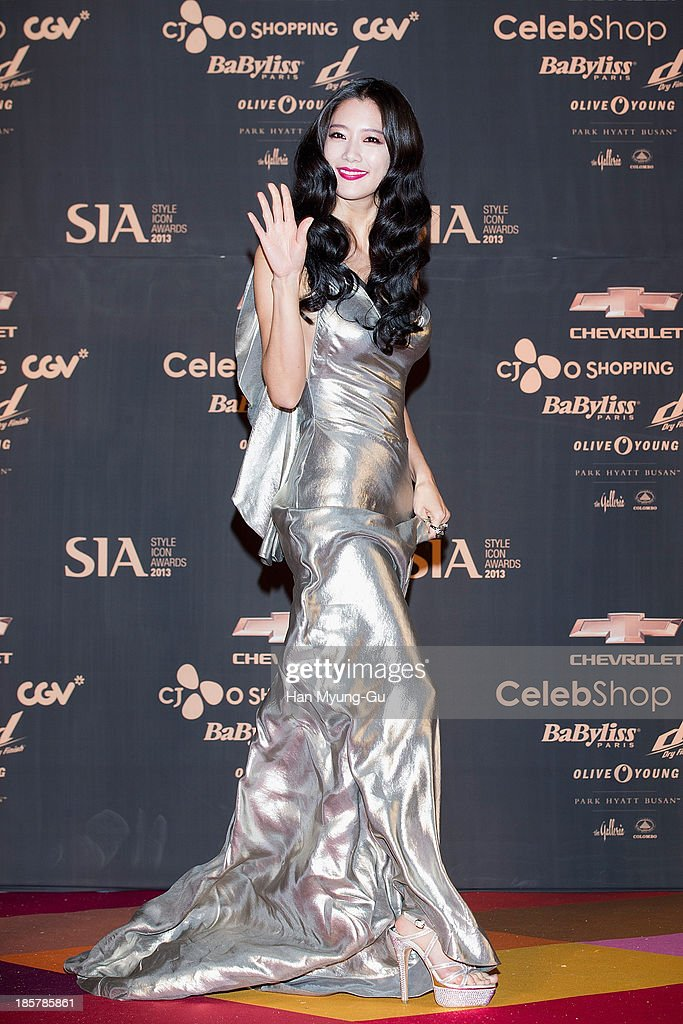 South Korean actress Clara attends 2013 Style Icon Awards at CJ E&M Center on October 24, 2013 in Seoul, South Korea.