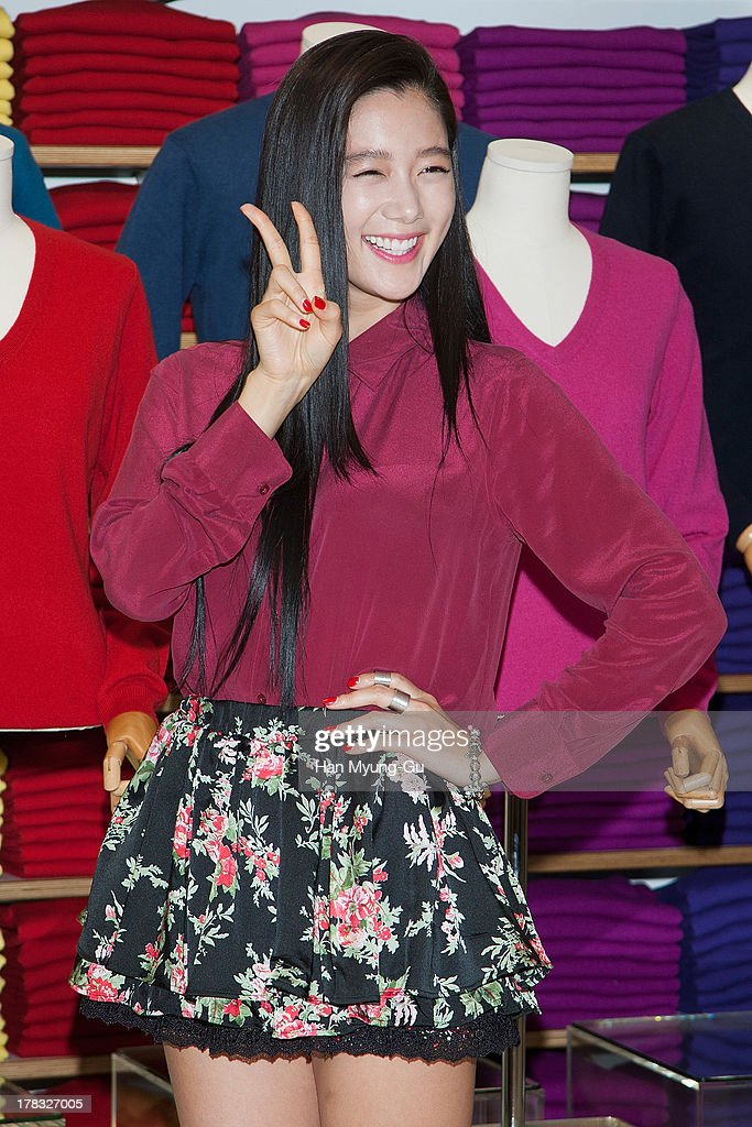 South Korean actress Clara attends during the 'Uniqlo' 2013 F/W Silk/Cashmere Project press event at Gangnam Uniqlo Store on August 29, 2013 in Seoul, South Korea.