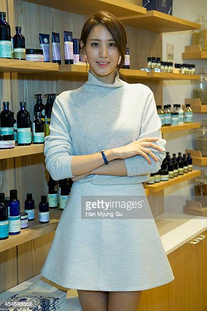 South Korean actress Claudia Kim attends promotional event for the 'Neal's Yard Remedies' on September 3 2014 in Seoul South Korea