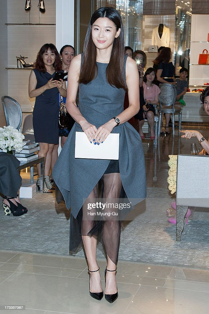 South Korean actress Gianna Jun (Jeon Ji-Hyun) attends during the 'Christian Dior' Boutique Reopening at Galleria Department Store on July 12, 2013 in Seoul, South Korea.