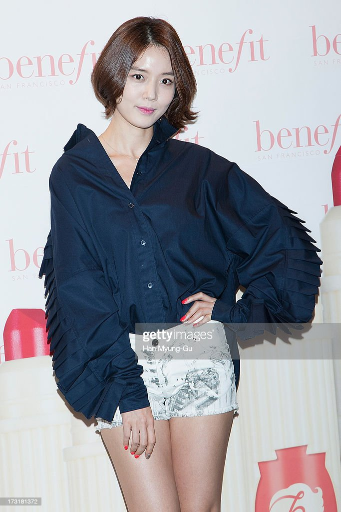 South Korean actress Go Na-Eun attends the Benefit 'Hydra-Smooth Lip Color' launching party at JNB Gallery on July 9, 2013 in Seoul, South Korea.