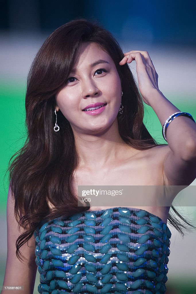 South Korean actress Ha Na Kim attends the clothing ceremony of the 19th Shanghai TV Festival at Himalayan Art Center on June 14, 2013 in Shanghai, China.