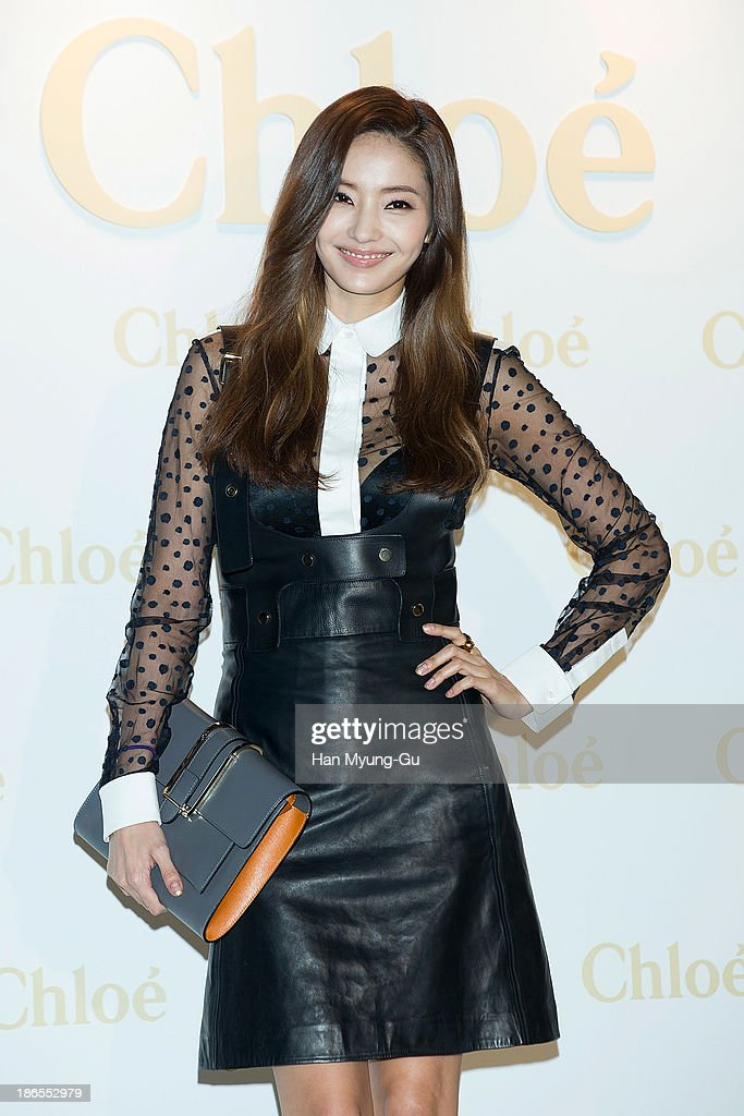 South Korean actress <a gi-track='captionPersonalityLinkClicked' href=/galleries/search?phrase=Han+Chae-Young&family=editorial&specificpeople=829986 ng-click='$event.stopPropagation()'>Han Chae-Young</a> attends 'Chloe' flagship store grand opening event at Chloe Gangnam Store on November 1, 2013 in Seoul, South Korea.