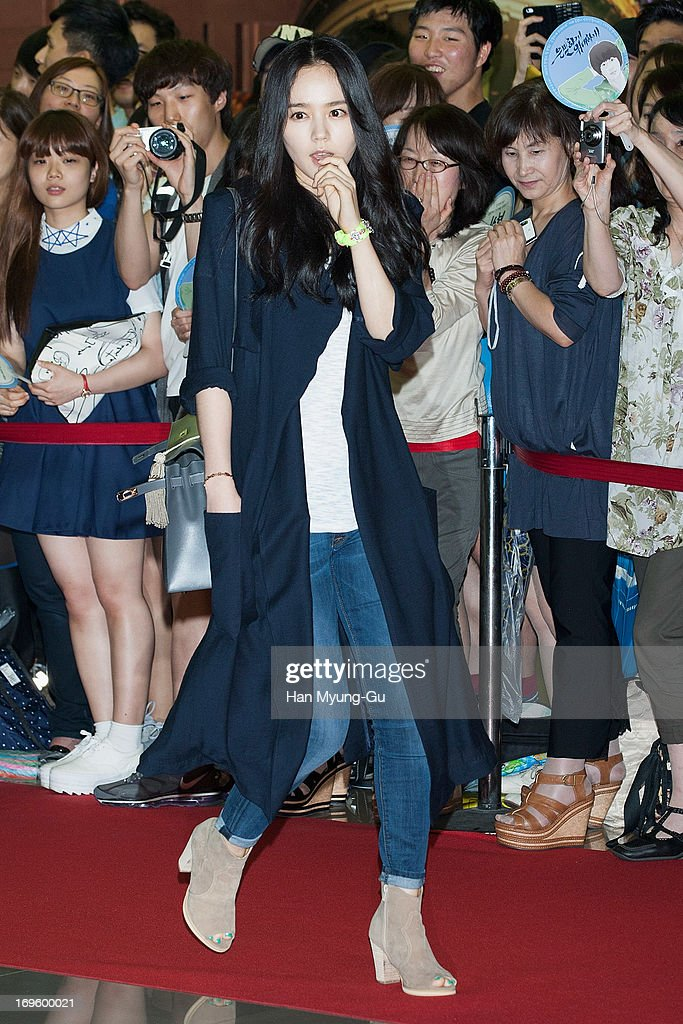 South Korean actress Han GaIn attends the 'Secretly Greatly' VIP Screening at Mega Box on May 27 2013 in Seoul South Korea The film will open on June...