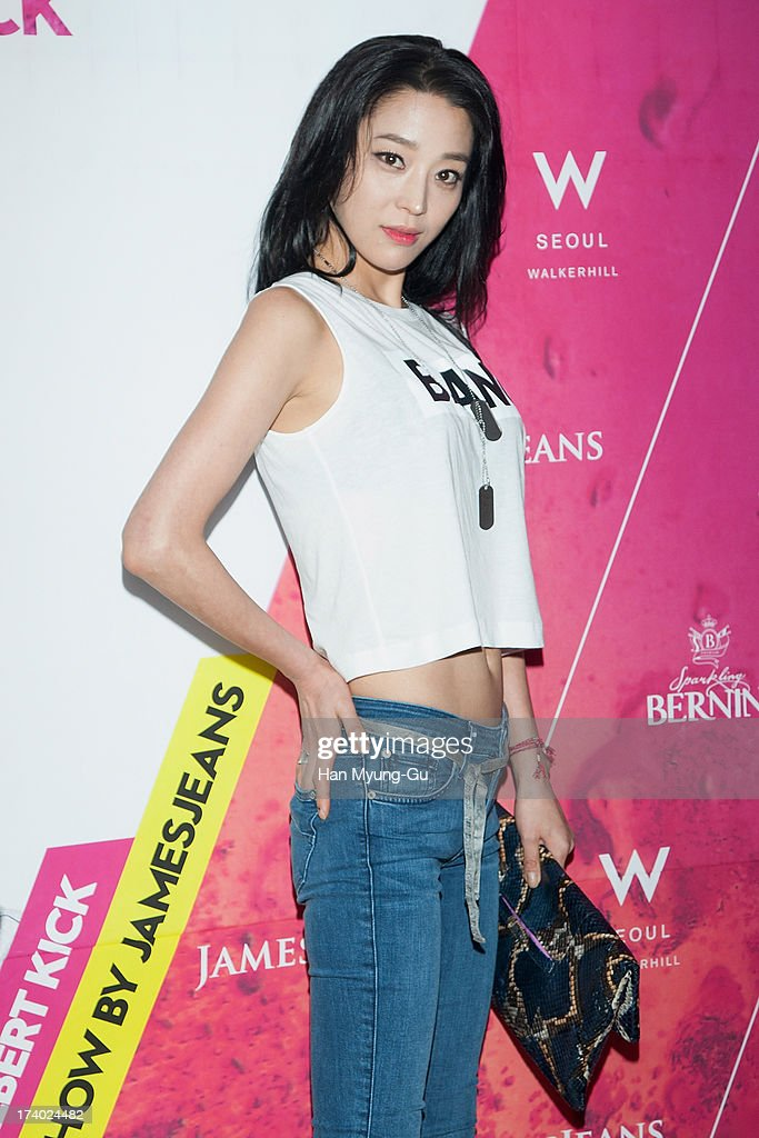 South Korean actress Han Go-Eun attends during a promotional event for the 'JamesJeans' 2013 F/W Showcase at the W Hotel on July 19, 2013 in Seoul, South Korea.