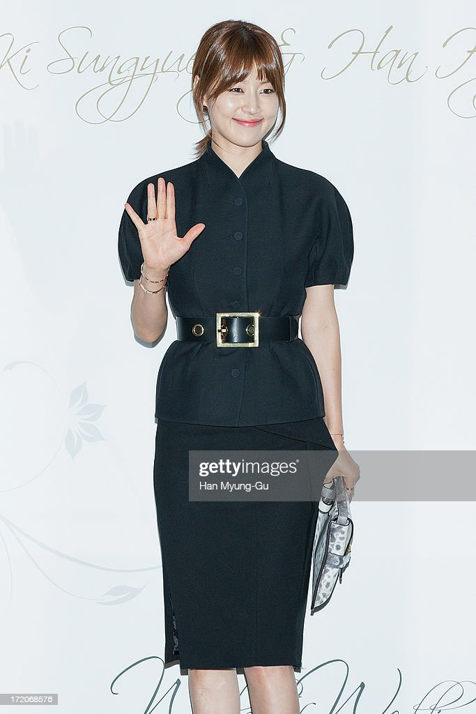 South Korean actress Han Ji-Hye attends during the wedding of Ki Sung-Yueng of Swansea City at COEX Intercontinental Hotel on July 1, 2013 in Seoul, South Korea.