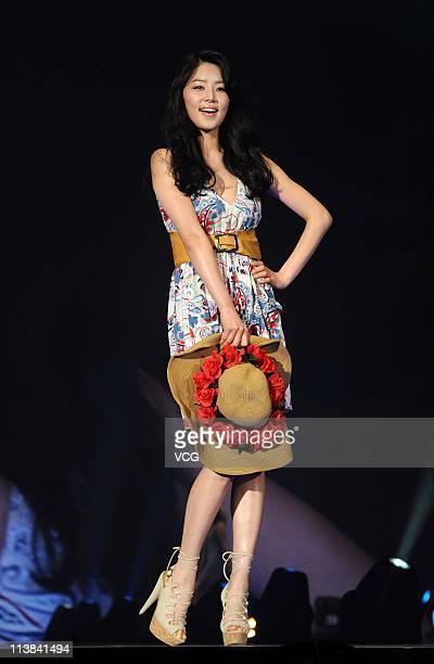 South Korean actress Han JiHye walks the runway at the TGC Girls Collection 2011 at MasterCard Center on May 7 2011 in Beijing China