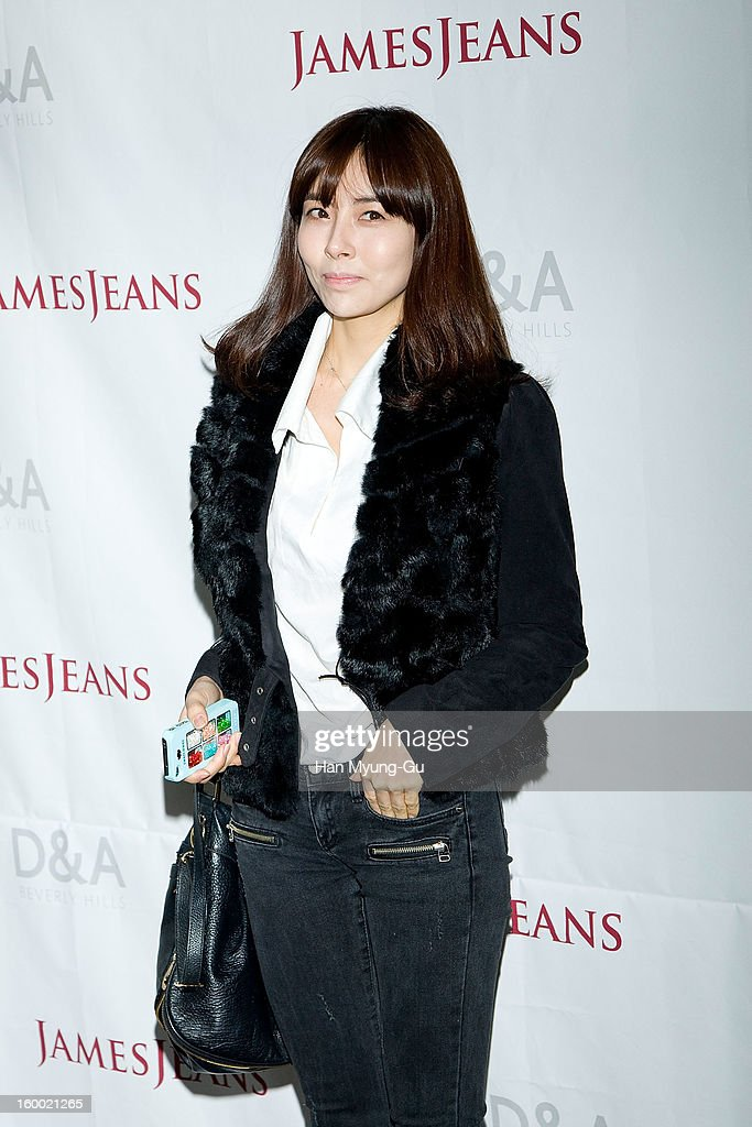 South Korean actress Hong So-Hee attends the 'JamesJeans' Flagship Store opening on January 24, 2013 in Seoul, South Korea.