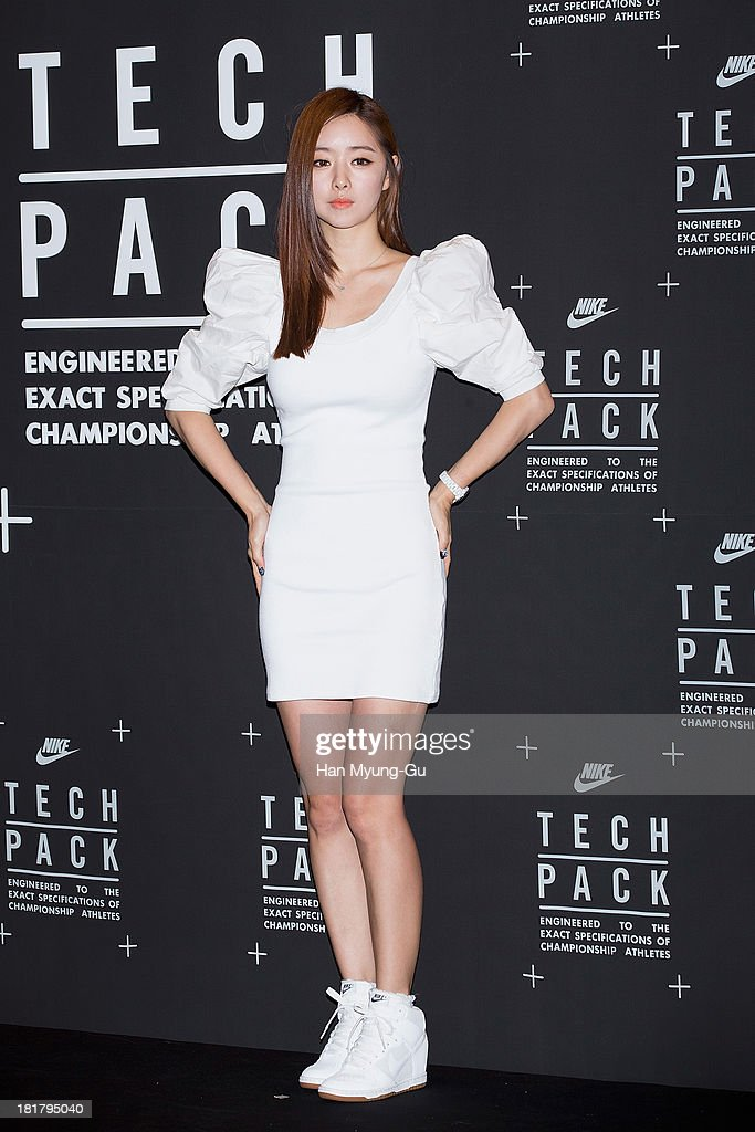 South Korean actress Hong Su-A (<a gi-track='captionPersonalityLinkClicked' href=/galleries/search?phrase=Hong+Soo-Ah&family=editorial&specificpeople=4357884 ng-click='$event.stopPropagation()'>Hong Soo-Ah</a>) attends a promotional event for the NIKE 'Tech Pack' Showcase at Shilla Hotel on September 24, 2013 in Seoul, South Korea.