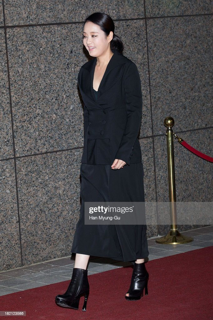 South Korean actress Jang Mi-Hee attends VOGUE Fashion Night Out at Shinsegae Department Store on September 27, 2013 in Seoul, South Korea.