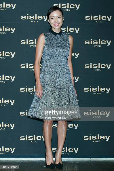 South Korean actress Jeon DoYeon attends the launching party for Sisley 'Supreme Baume' at JNB Gallery on July 23 2015 in Seoul South Korea