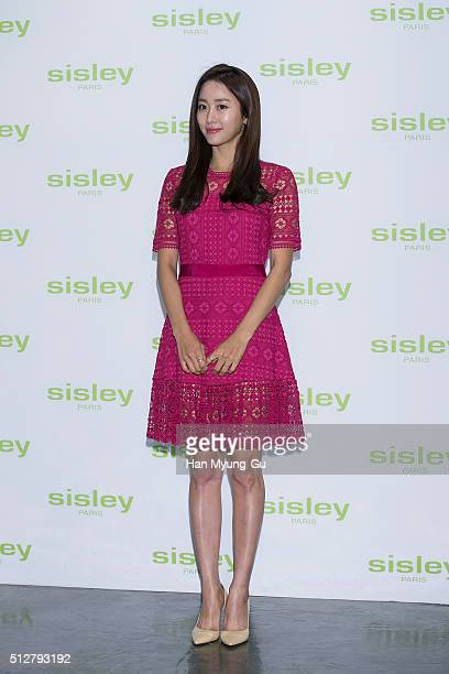 South Korean actress Jeon HaeBin attends the launch party for Sisley 'SISLEYA L'Integral AntiAge' on February 25 2016 in Seoul South Korea