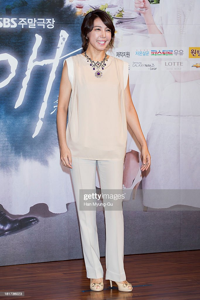 South Korean actress Jeon Su-Kyung (Jeon Soo-Kyung) attends SBS Drama 'Hot Love' press conference at 63 building on September 23, 2013 in Seoul, South Korea. The drama will open on September 28, in South Korea.