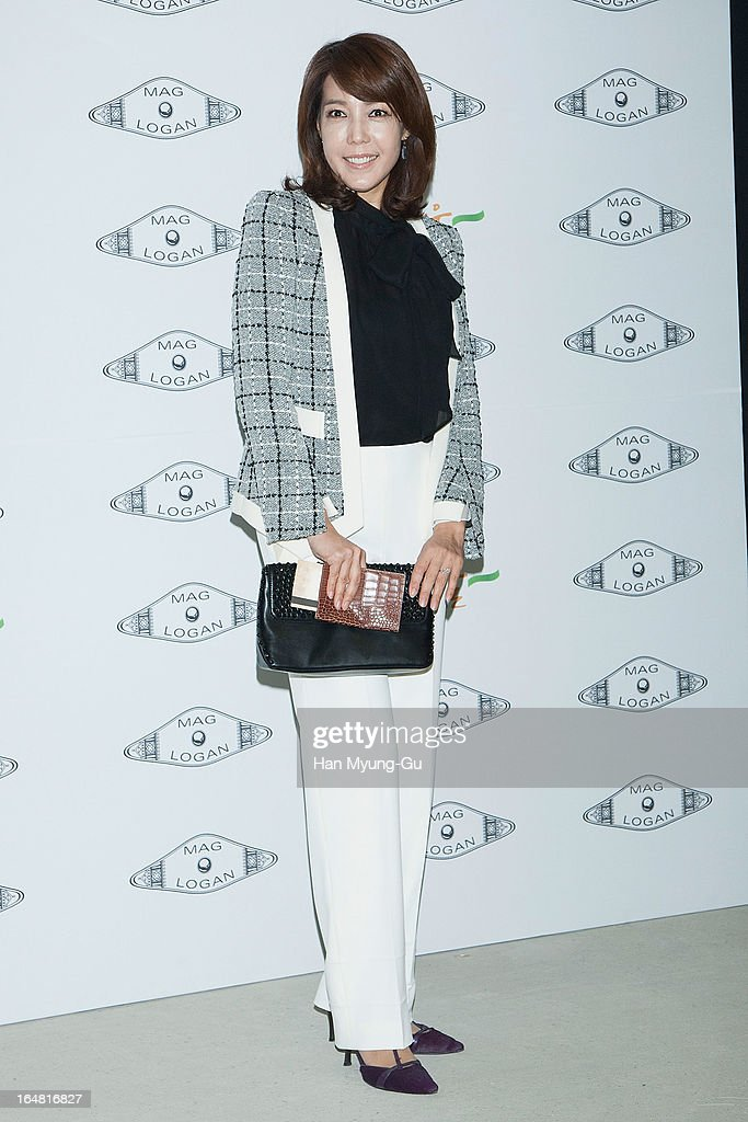 South Korean actress Jeon Su-Kyung (Jeon Soo-Kyung) attends the 'MAG AND LOGAN' show on day four of the Seoul Fashion Week F/W 2013 at IFC Seoul on March 28, 2013 in Seoul, South Korea.