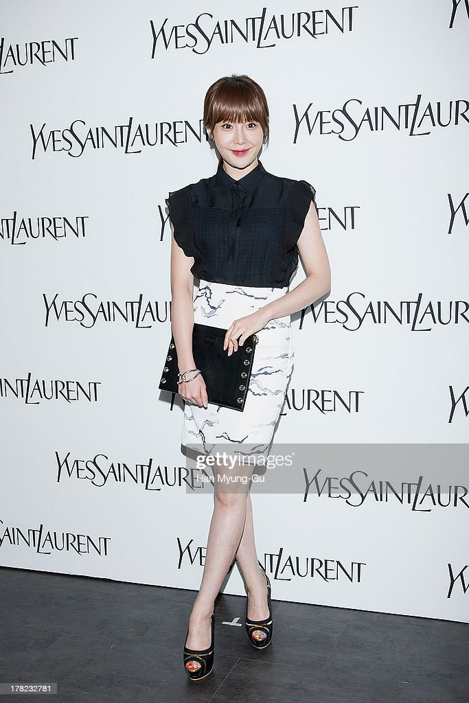 South Korean actress Jo An (Cho Ahn) attends during the 'Forever Youth Liberator' launch party hosted by Yves Saint Laurent Skin Care at the Cais Gallery on August 27, 2013 in Seoul, South Korea.