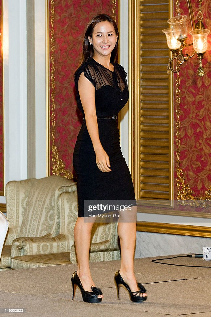 South Korean actress Jo Yeo-Jeong attends during a press conference to promote the KBS drama 'Haeundae Lovers' at Imperial Palace Hotel on August 01, 2012 in Seoul, South Korea. The drama will open on August 06 in South Korea.