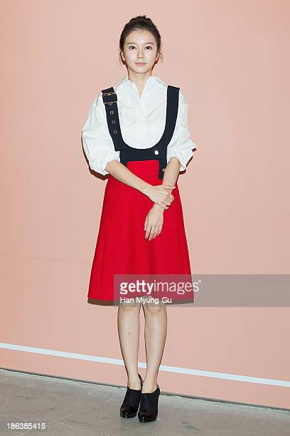 South Korean actress Jung Han Bi attends Chloe's perfume 'ROSES DE CHLOE EDT' launch party at Space Gallery on October 30 2013 in Seoul South Korea