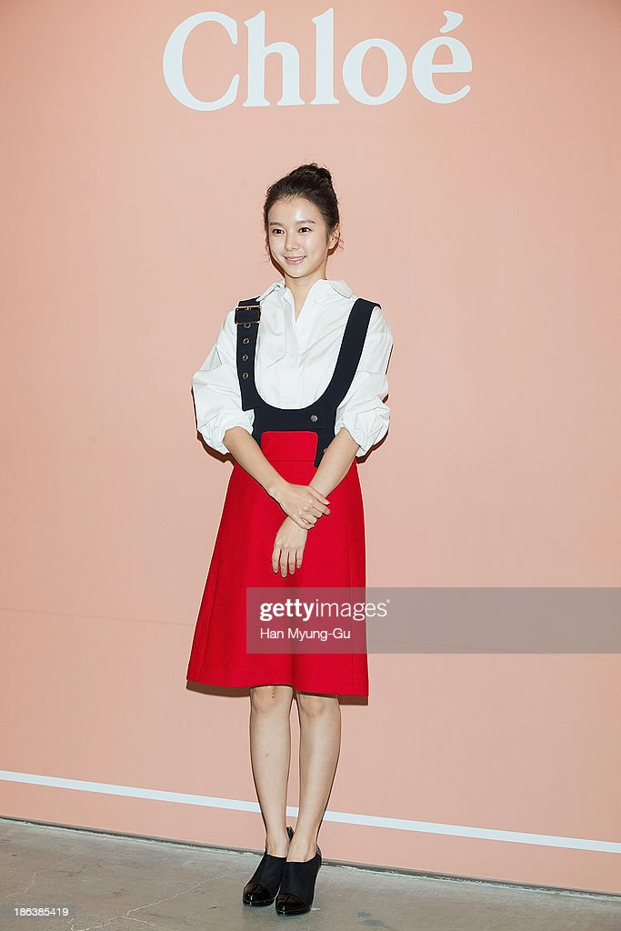 South Korean actress Jung Han Bi attends Chloe's perfume 'ROSES DE CHLOE EDT' launch party at Space Gallery on October 30, 2013 in Seoul, South Korea.