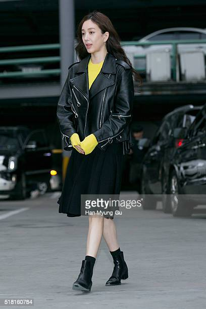 South Korean actress Jung RyeoWon attends the LUCKY CHOUETTE 2016 S/S Collection on March 29 2016 in Seoul South Korea