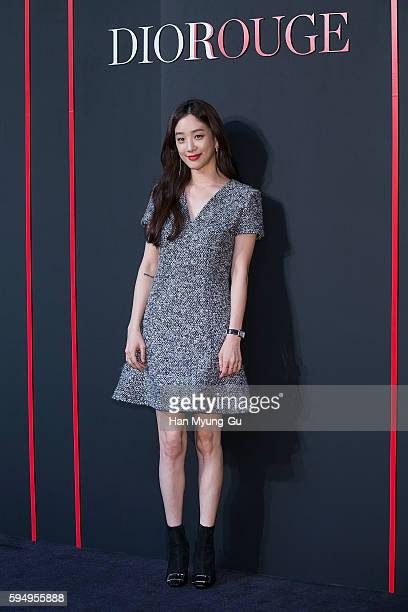 South Korean actress Jung RyeoWon attends the photocall for Dior 'ROUGE DIOR' Pop Up Store Launch on August 19 2016 in Seoul South Korea