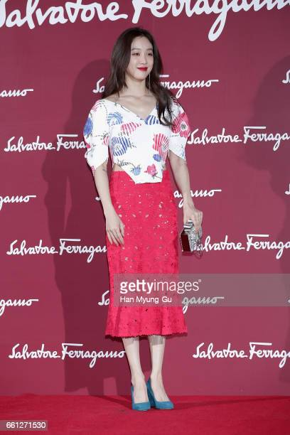South Korean actress Jung RyeoWon attends the photocall for 'Salvatore Ferragamo' Paul Andrew line launch event at The Shilla Hotel on March 30 2017...