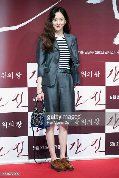 South Korean actress Jung RyeoWon attends 'The Treacherous' VIP screening at Lotte Cinema on May 18 2015 in Seoul South Korea The film will open on...