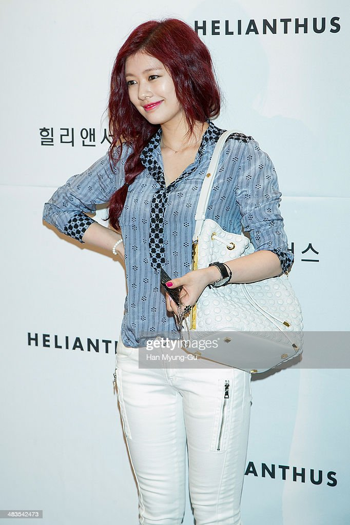 South Korean actress Jung So-Min attends the 'Helianthus' 2014 S/S Lesley Line Launch event at Lotte Department Store on April 9, 2014 in Seoul, South Korea.