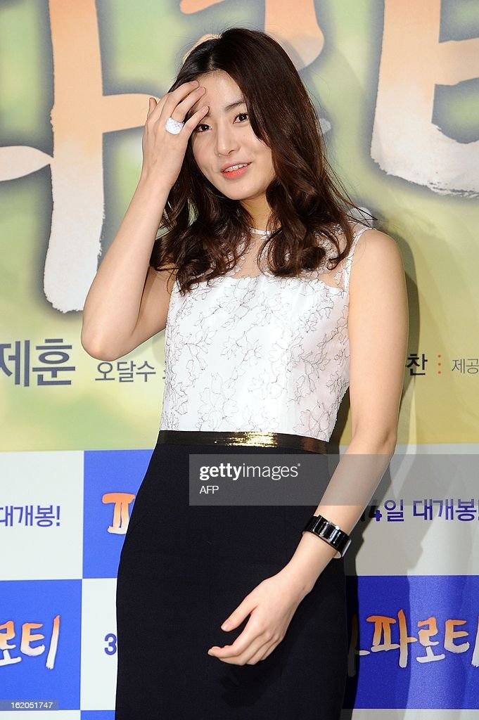 South Korean actress Kang So-Ra attends a press conference for the new film 'My Paparotti' in Seoul on February 18, 2013. REPUBLIC