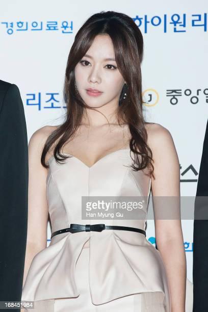 South Korean actress Kim AJoong attends the 49th Paeksang Arts Awards on May 9 2013 in Seoul South Korea