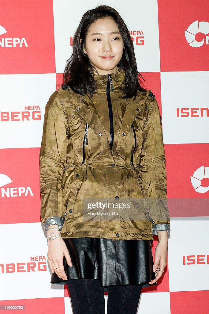 South Korean actress <a gi-track='captionPersonalityLinkClicked' href=/galleries/search?phrase=Kim+Go-Eun&family=editorial&specificpeople=9477456 ng-click='$event.stopPropagation()'>Kim Go-Eun</a> attends a promotional event for the NEPA History Show 2013 'ISENBERG' Launching Show at COEX on January 22, 2013 in Seoul, South Korea.