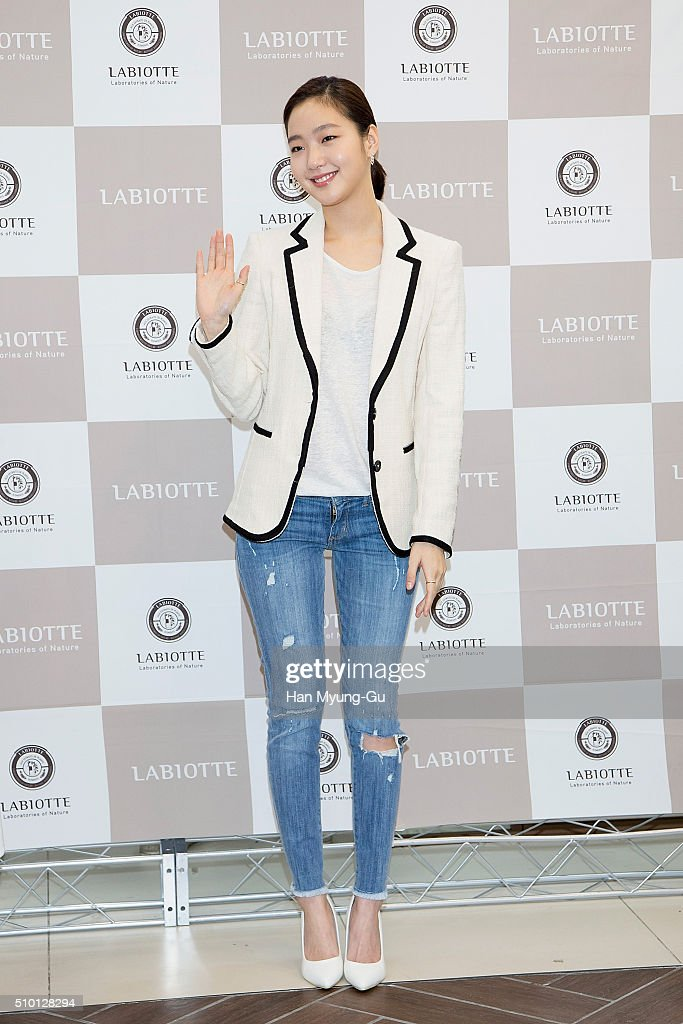South Korean actress <a gi-track='captionPersonalityLinkClicked' href=/galleries/search?phrase=Kim+Go-Eun&family=editorial&specificpeople=9477456 ng-click='$event.stopPropagation()'>Kim Go-Eun</a> attends the photocall for the launch of 'LABIOTTE' on February 14, 2016 in Seoul, South Korea.