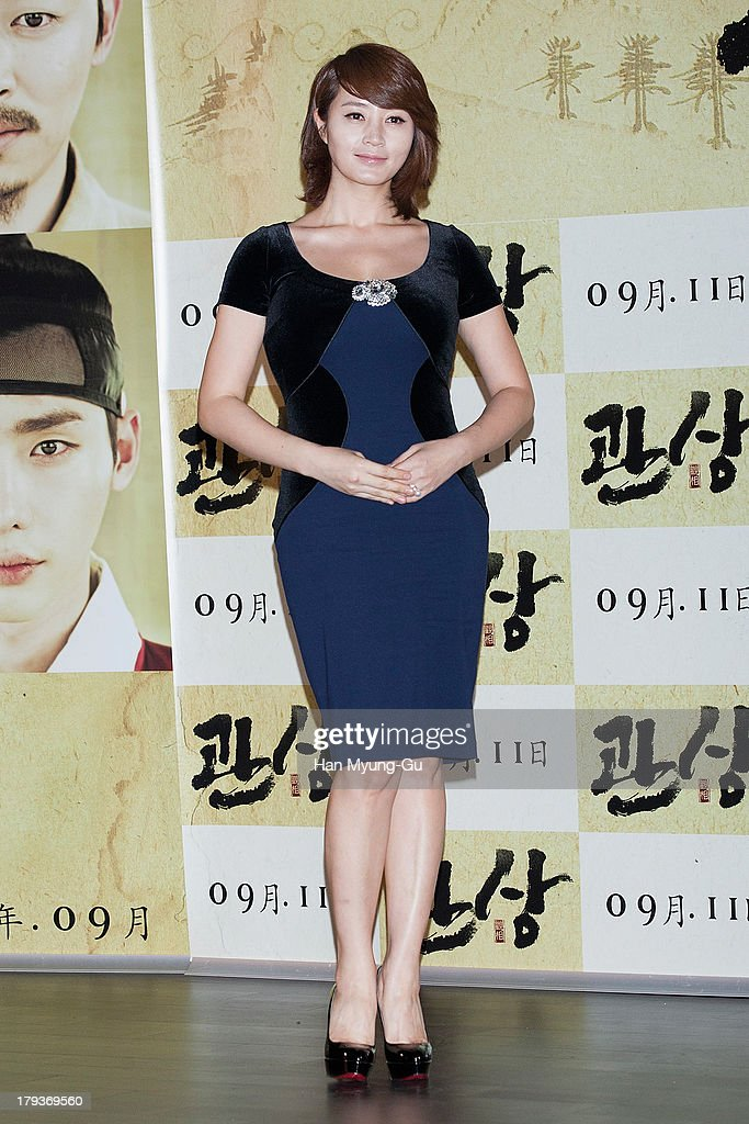 South Korean actress Kim Hae-Soo (Kim Hye-Soo) attends 'The Face Reader' press screening at the MEGA Box on September 2, 2013 in Seoul, South Korea. The film will open on September 11, in South Korea.