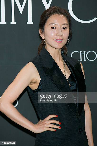 South Korean actress Kim HeeAe attends the 'Jimmy Choo' Moments In Style Party on April 10 2015 in Seoul South Korea