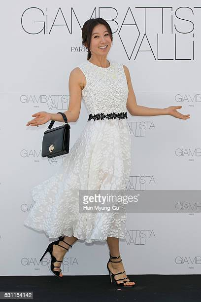 South Korean actress Kim HeeAe attends the photocall for Giambattista Valli on May 13 2016 in Seoul South Korea