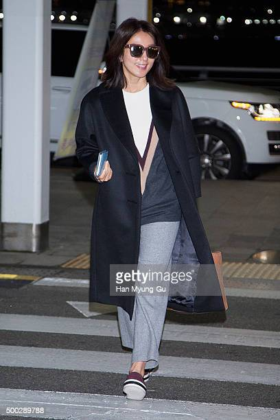 South Korean actress Kim HeeAe is seen on departure at the Incheon International Airport on December 6 2015 in Seoul South Korea