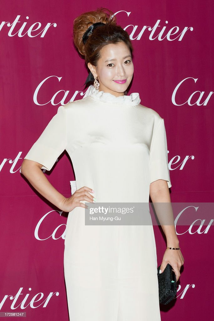 South Korean actress Kim Hee-Sun (Kim Hee-Seon) attends the Cartier Paris Nouvelle Vague launch party at the Walkerhill Hotel on July 3, 2013 in Seoul, South Korea.
