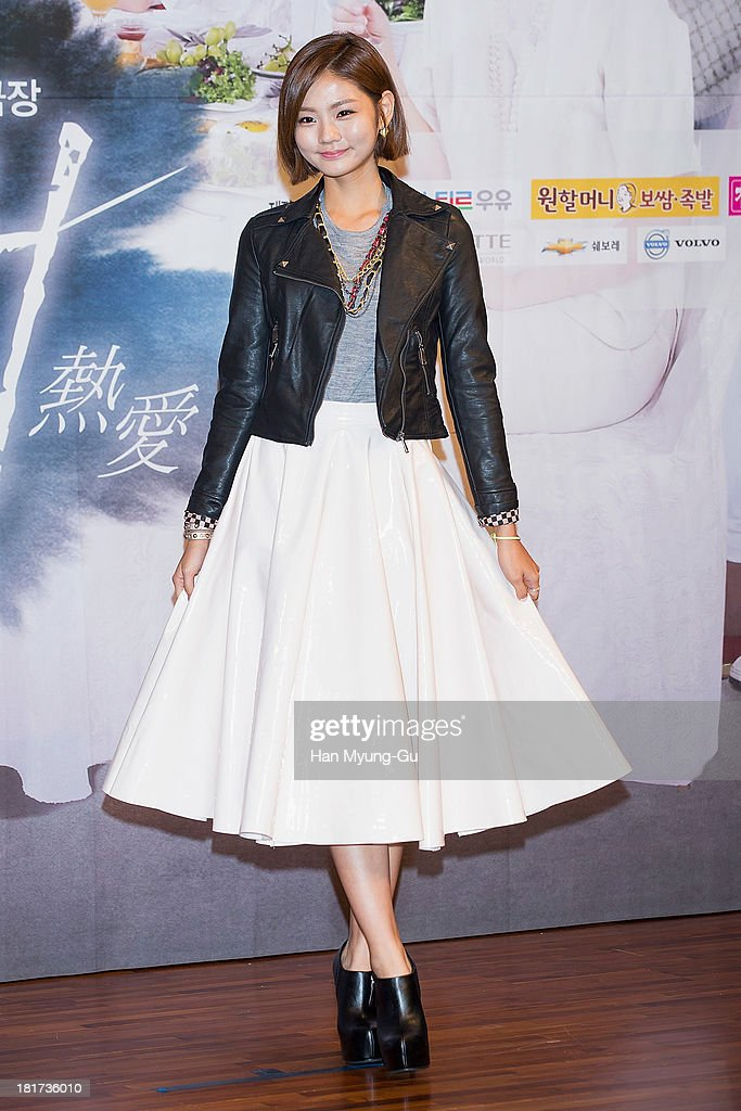 South Korean actress Kim Hye-Ji attends SBS Drama 'Hot Love' press conference at 63 building on September 23, 2013 in Seoul, South Korea. The drama will open on September 28, in South Korea.