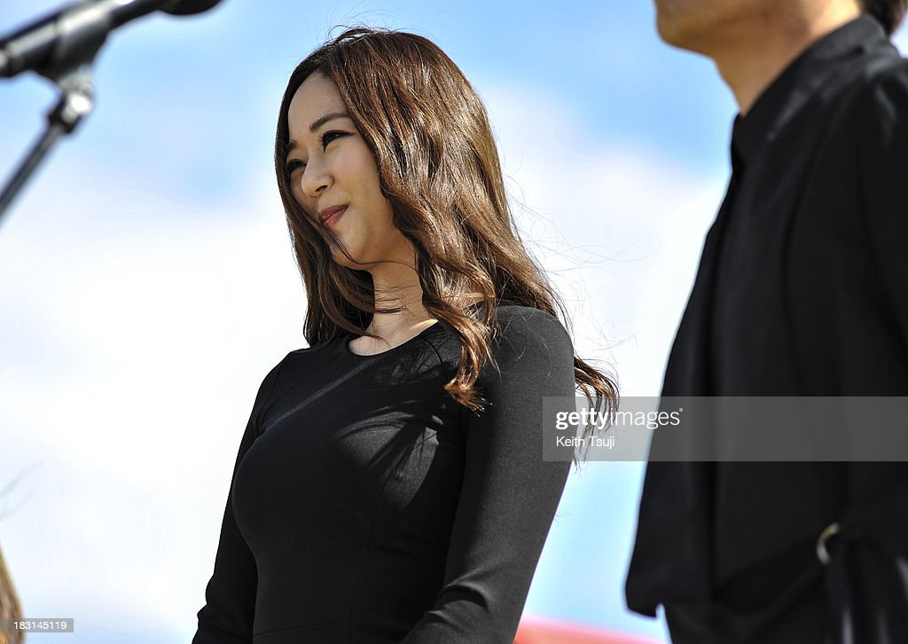South Korean Actress <a gi-track='captionPersonalityLinkClicked' href=/galleries/search?phrase=Kim+Hyo-Jin&family=editorial&specificpeople=7350092 ng-click='$event.stopPropagation()'>Kim Hyo-Jin</a> attends the 'Genome Hazard' Outside Stage Greeting during the 18th Busan International Film Festival on October 4, 2013 in Busan, South Korea.