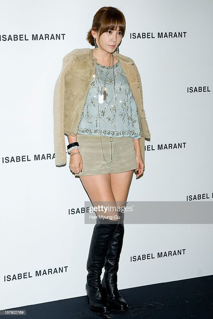 South Korean actress Kim Jung-Eun attends during a promotional event of the 'Isabel Marant' Flagship Store Opening at Isabel Marant gangnam store on December 6, 2012 in Seoul, South Korea.