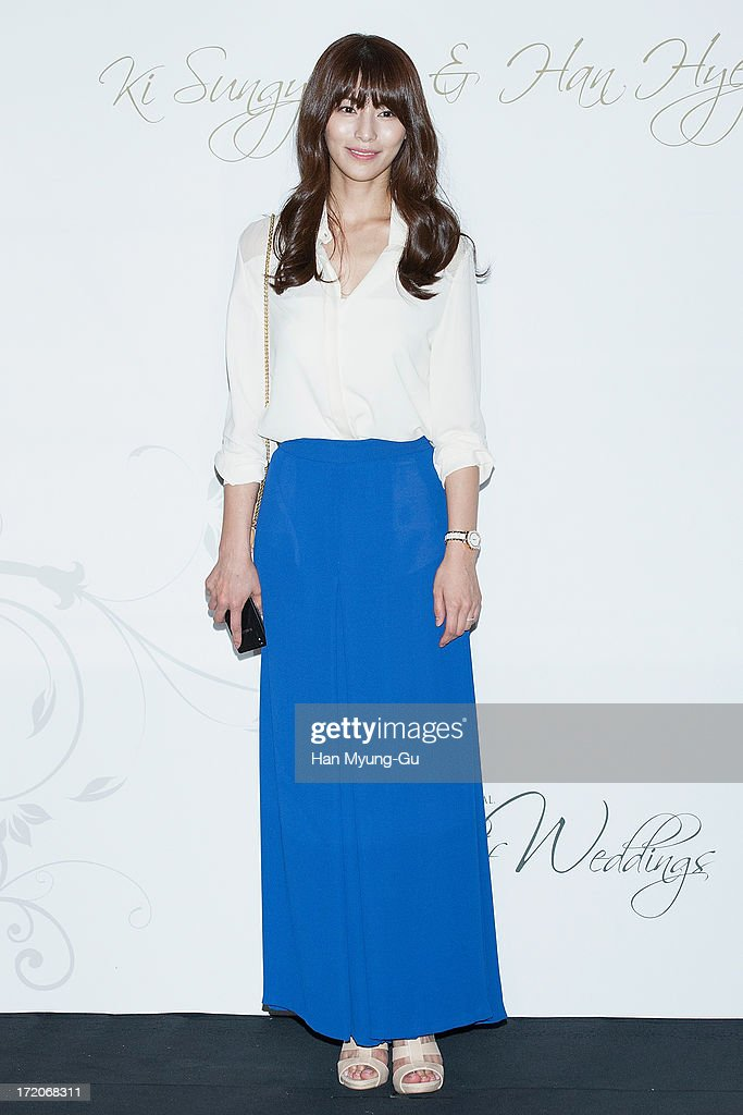 South Korean actress Kim Jung-Hwa attends during the wedding of Ki Sung-Yueng of Swansea City at COEX Intercontinental Hotel on July 1, 2013 in Seoul, South Korea.