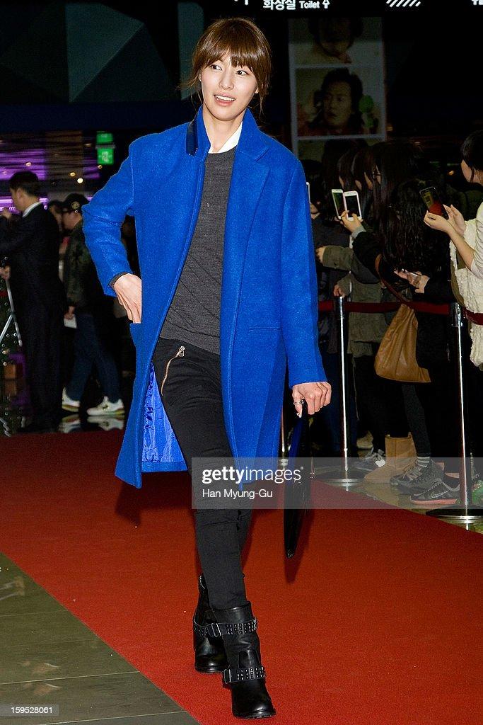 South Korean actress Kim Jung-Hwa attends the 'Miracle In Cell No.7' VIP Screening at Mega Box on January 14, 2013 in Seoul, South Korea.