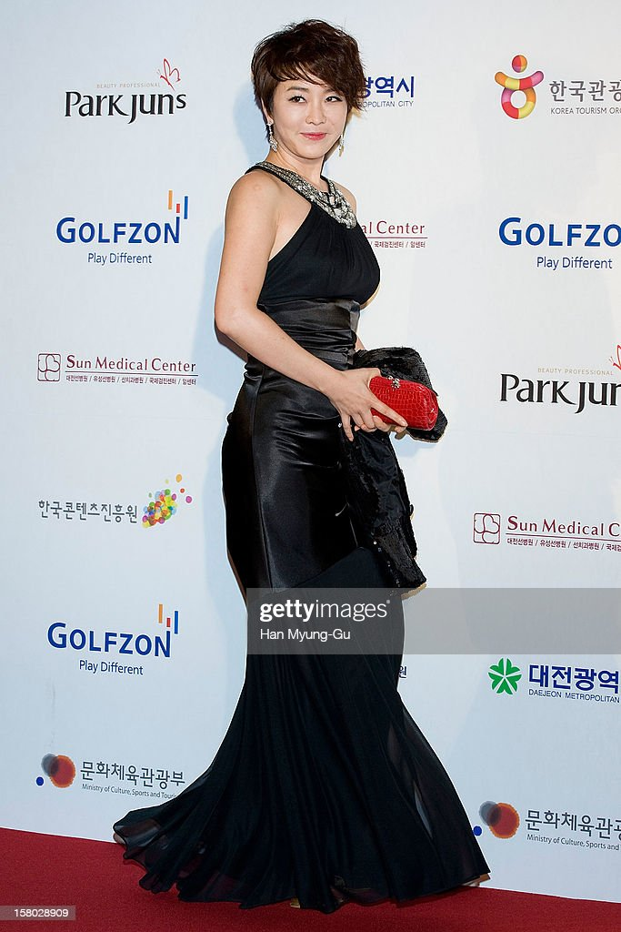 South Korean actress Kim Jung-Nan (Kim Jeong-Nan) attends the 1st K-Drama Star Awards at Daejeon Convention Center on December 8, 2012 in Daejeon, South Korea.