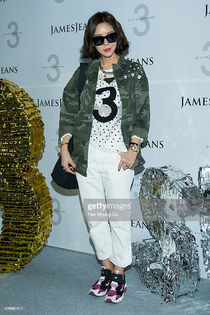 South Korean actress Kim Jun-Hee attends the 3 SUM By 'JamesJeans' Launch Party at JamesJeans flagship store on March 6, 2014 in Seoul, South Korea.