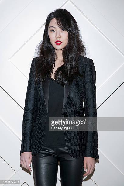 South Korean actress Kim MinHee attends promotional event for the Burberry Beauty Box at COEX Mall on December 18 2014 in Seoul South Korea