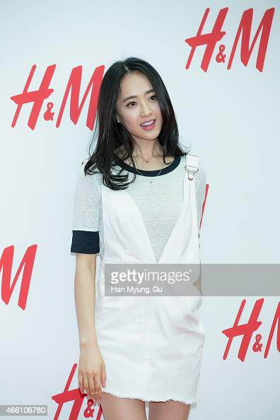 South Korean actress Kim MinJung attends the opening event for HM YeongDeungPo Times Square at Yeongdeungpo Times Square on March 13 2015 in Seoul...