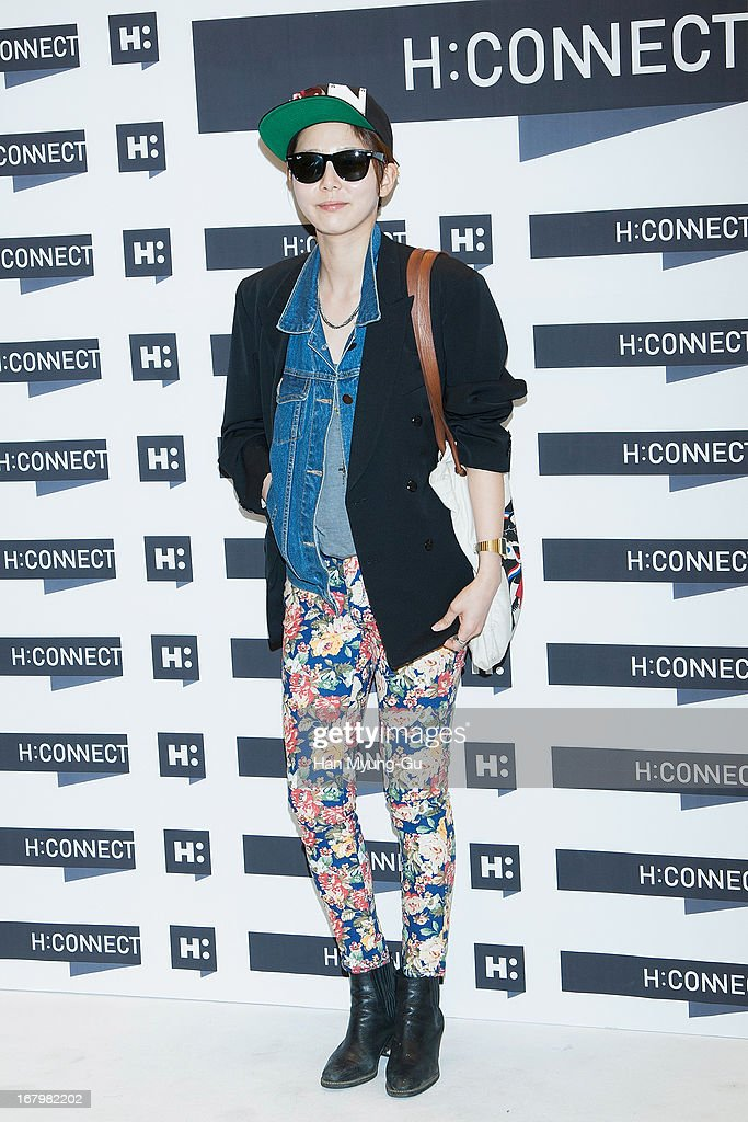 South Korean actress Kim Na-Young attends a promotional event for the 'H:Connect' Gangnam Flagship Store Opening on May 3, 2013 in Seoul, South Korea.